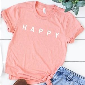 NEW Happy Graphic Tee Top S-4X Spring women
